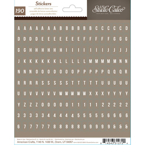 Studio Calico - Sundrifter Collection - Cardstock Stickers - Tiny Alphabet - Brown