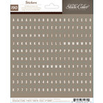 American Crafts - Studio Calico - Sundrifter Collection - Cardstock Stickers - Tiny Alphabet - Brown
