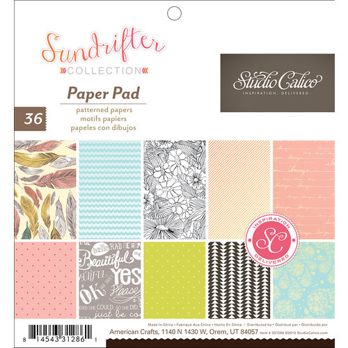 American Crafts - Studio Calico - Sundrifter Collection - 6 x 6 Paper Pad