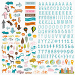 American Crafts - Studio Calico - Here and There Collection - 12 x 12 Cardstock Stickers