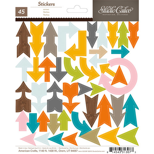 Studio Calico - Here and There Collection - Chipboard Stickers - Arrows