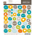 American Crafts - Studio Calico - Here and There Collection - Cardstock Stickers