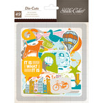 American Crafts - Studio Calico - Here and There Collection - Die Cut Cardstock Shapes