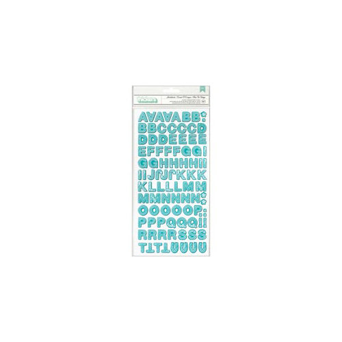 Studio Calico - Snippets Collection - Thickers - Printed Chipboard - Sketchbook - Aqua