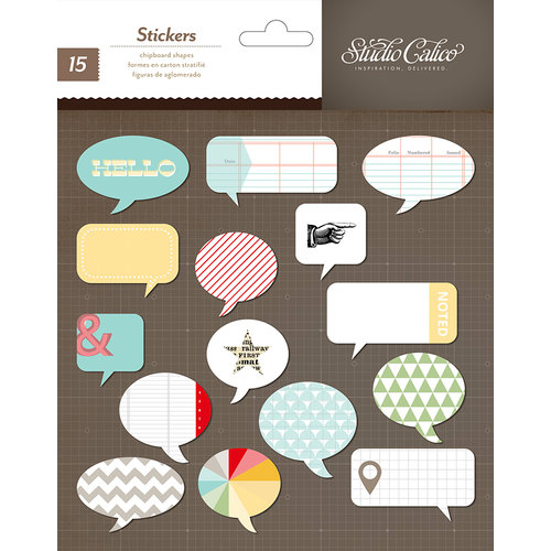 Studio Calico - Snippets Collection - Chipboard Stickers - Speech Bubbles