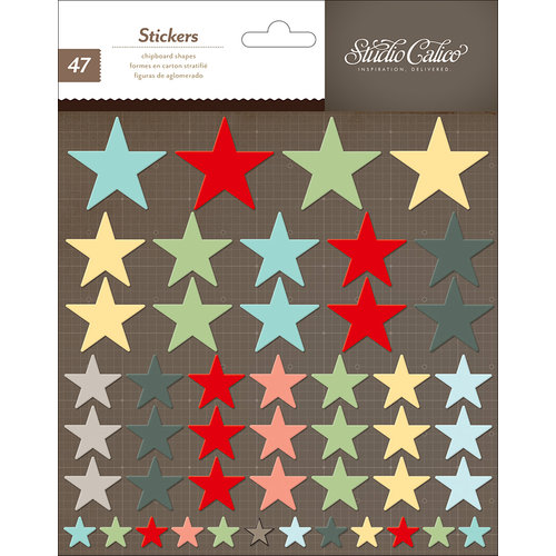 Studio Calico - Snippets Collection - Chipboard Stickers - Stars
