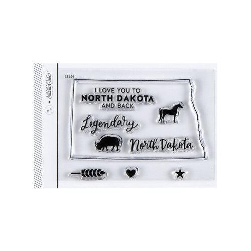Studio Calico - Clear Photopolymer Stamps - I Love North Dakota