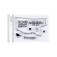Studio Calico - Clear Photopolymer Stamps - I Love Mississippi