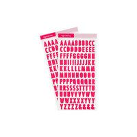 Studio Calico - Color Theory - 6 x 12 Alpha Stickers - Flamingo