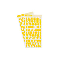 Studio Calico - Color Theory - 6 x 12 Alpha Stickers - Lemon Zest