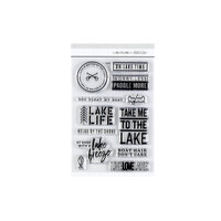 Studio Calico - Clear Photopolymer Stamps - On My Way - Lake