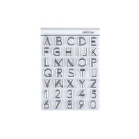 Studio Calico - Clear Photopolymer Stamps - Bowie Alpha and Number