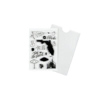 Studio Calico - Clear Photopolymer Stamps - Florida