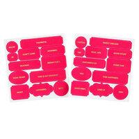 Studio Calico - Color Theory - Die Cut Labels - Flamingo