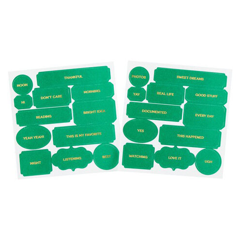 Studio Calico - Color Theory - Die Cut Labels - Emerald City