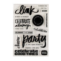 Ali Edwards - Clear Photopolymer Stamps - Celebrate