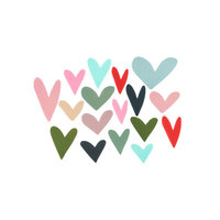 Studio Calico - Merry Everything Collection - Embellishments - Plastic Hearts