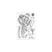 Studio Calico - Clear Photopolymer Stamps - South America