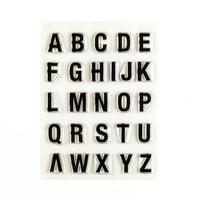 Ali Edwards - Clear Photopolymer Stamps - Sans-Serif Alpha