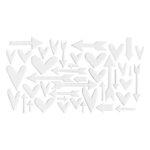 Studio Calico - Chipboard - White Hearts and Arrows