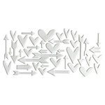 Studio Calico - Chipboard - Silver foil Hearts and Arrows