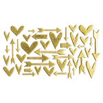 Studio Calico - Chipboard - Gold Foil Hearts and Arrows