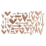 Studio Calico - Chipboard - Rose Gold Hearts and Arrows