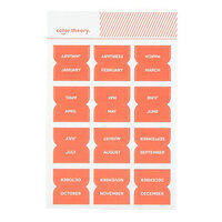 Studio Calico - Color Theory - Monthly Tab Stickers - Coral Bay