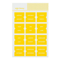 Studio Calico - Color Theory - Monthly Tab Stickers - Lemon Zest