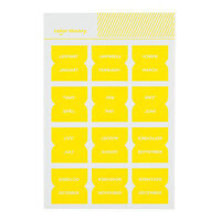 Studio Calico - Color Theory - Monthly Tab Stickers - Sunny Day
