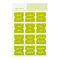 Studio Calico - Color Theory - Monthly Tab Stickers - Lime Light