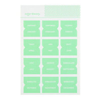 Studio Calico - Color Theory - Monthly Tab Stickers - Mint Hint