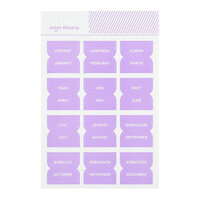 Studio Calico - Color Theory - Monthly Tab Stickers - Lavender Soda
