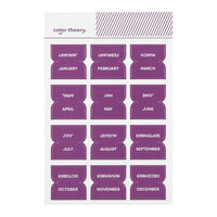 Studio Calico - Color Theory - Monthly Tab Stickers - Purple Rain