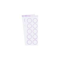 Studio Calico - Color Theory - Circle Label Sticker - Lavender Soda
