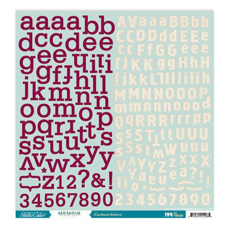 Studio Calico - Memoir Collection - 12 x 12 Cardstock Stickers - Alphabet