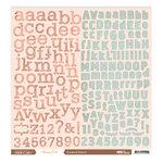 Studio Calico - Autumn Press Collection - 12 x 12 Cardstock Stickers - Alphabet