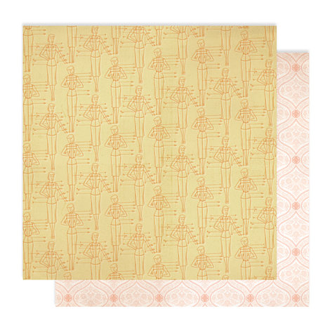 American Crafts - Studio Calico - Autumn Press Collection - 12 x 12 Double Sided Paper - Fall Fashion
