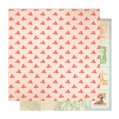 Studio Calico - Autumn Press Collection - 12 x 12 Double Sided Paper - Rose Bud