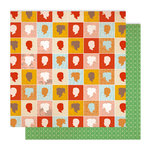 American Crafts - Studio Calico - Autumn Press Collection - 12 x 12 Double Sided Paper - Frolic