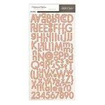 Studio Calico - Autumn Press Collection - Chipboard Stickers - Alphabet - Woodgrain