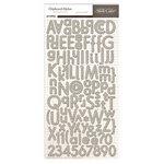 Studio Calico - Classic Calico Collection - Chipboard Stickers - Alphabet - Cream