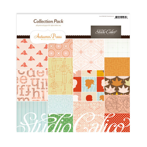 American Crafts - Studio Calico - Autumn Press Collection - 12 x 12 Collection Pack