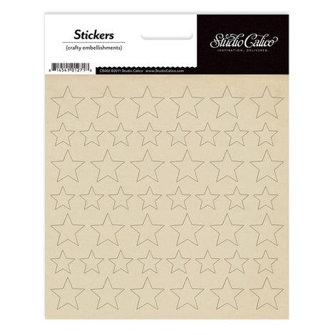 Studio Calico - Classic Calico Collection - Cardstock Stickers - Stars