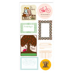 American Crafts - Studio Calico - Autumn Press Collection - Cardstock Stickers - Bookplate