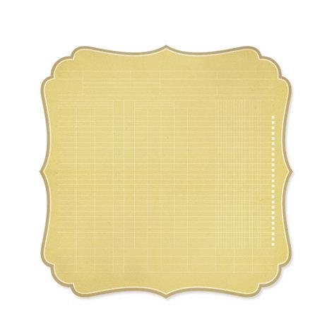 Studio Calico - Memoir Collection - 12 x 12 Die Cut Paper - Bracket - Tan