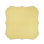 Studio Calico - Memoir Collection - 12 x 12 Die Cut Paper - Bracket - Tan