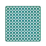 American Crafts - Studio Calico - Memoir Collection - 12 x 12 Die Cut Paper - Intertwined Circle - Teal