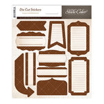 Studio Calico - Classic Calico Collection - Cardstock Stickers - Labels - Brown