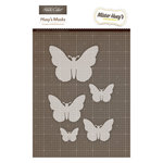 American Crafts - Studio Calico - Mister Huey's Color Mist - Stencils Mask Set - Butterflies